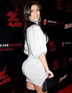 Kim Kardashian's Famous Butt